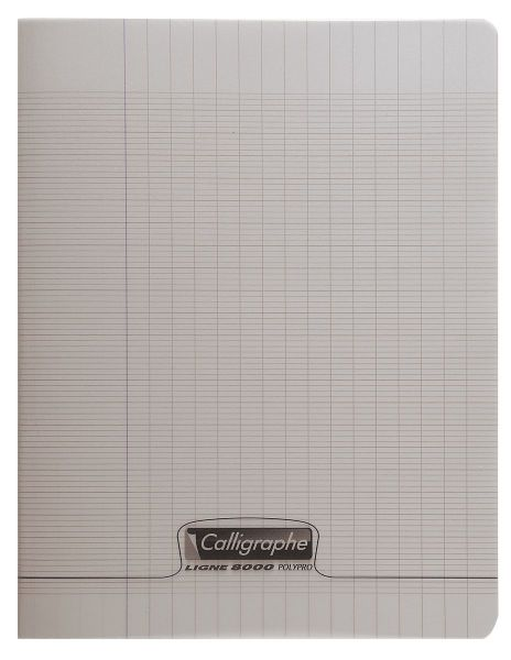 Cahier 17x22 48 pages - Gris