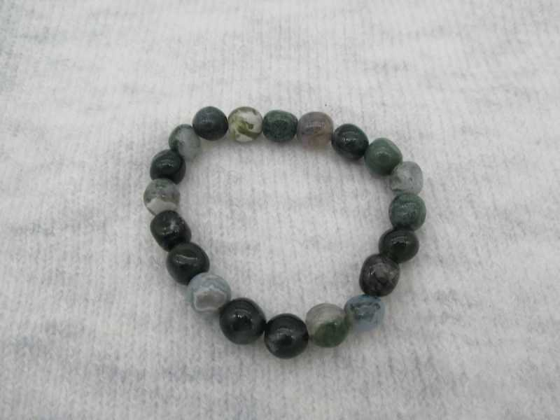 Bracelet Agate Mousse D8MM