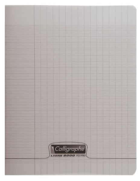 Cahier 17x22 96 pages - Gris
