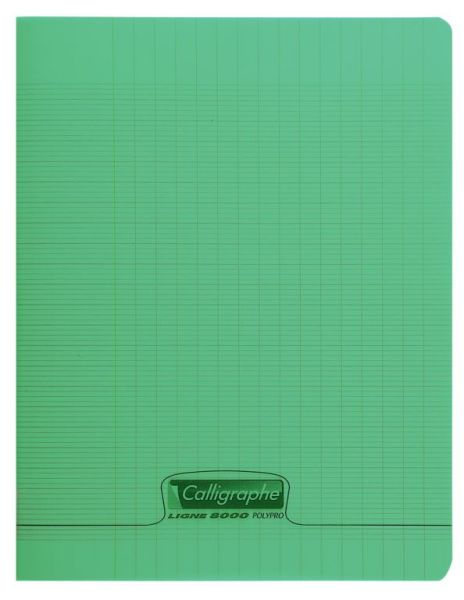 Cahier 17x22 90gr 96 pages - Vert