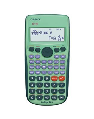 Calculatrice scientifique - FX 92 Collège 2D+
